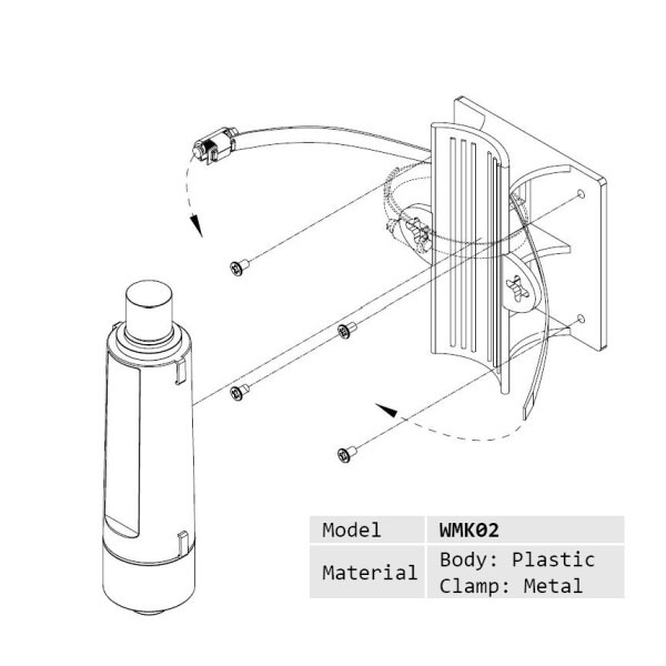 Alfa Wall Mount Kit Wmk02 For Ubiquiti Bullet Mikrotik